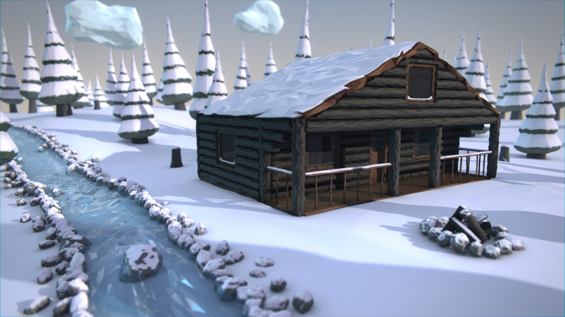 Good Wallpaper Minecraft Winter - cabin  Perfect Image Reference_587574.jpg