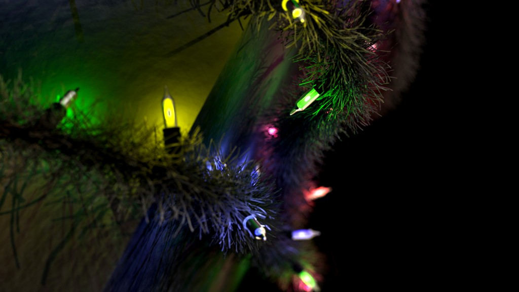 3D Christmas Garland Close Up