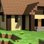 Minecraft Cabin Render